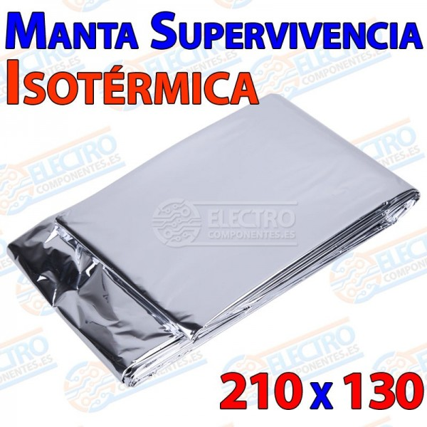 Manta Isotermica Plateada 130x210cm Supervivencia Emergencia