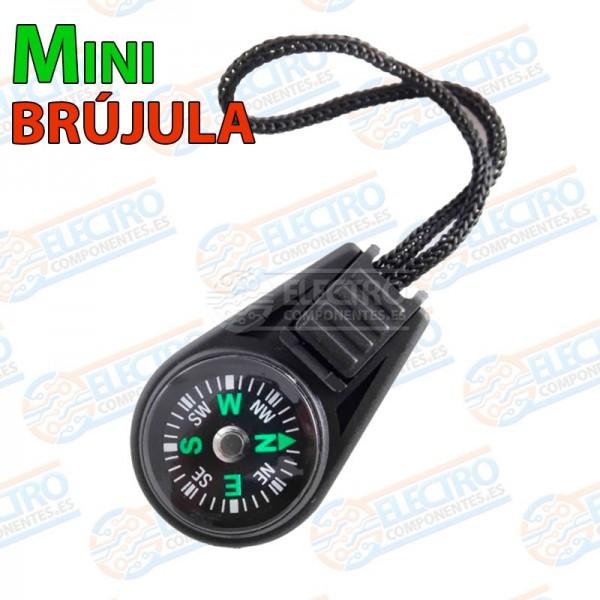 Mini Brujula portatil con cuerda para colagar Pocket Compass senderismo camping