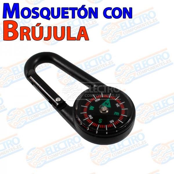 Mosqueton con brujula para senderismo supervivencia Clip Hook compass caza pesca